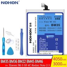 NohonバッテリーBM35 BM36 BM22 BM45 BM46 xiaomi mi 5 5s 4C redmi注2 3交換電話bateria高容量 + 無料ツール