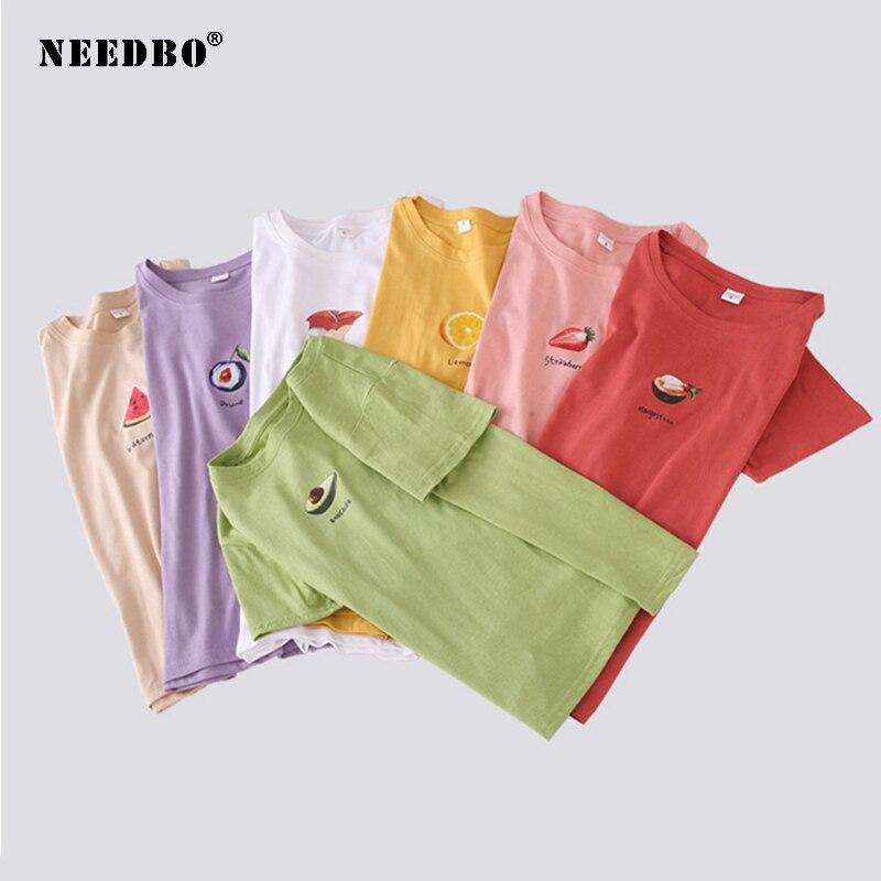 NEEDBO Fashion T Shirt Women Plus Size Print Harajuku Female T-Shirts Summer Student Loose Short Sleeve Casual TShirt Tops