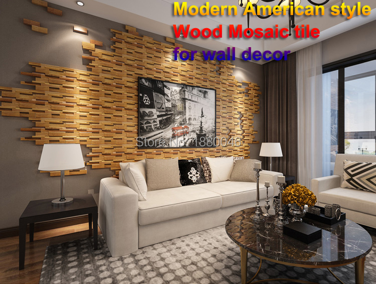 11pcs Pack Modern American Style 3d Art Wood Mosaic Tile For Tv Wall Background Decor Wood Texture Mosaic Wall Art Teahouse Plaques Signs Aliexpress