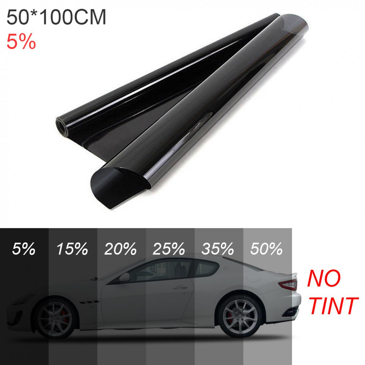 PVC 50 x 100CM Thickening Anti-wear Car Curtain Windshield Sun Shade UV Protection Side Window Film VLT Solar Sticker