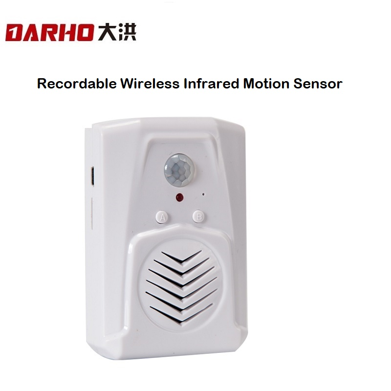 Darho Recordable Wireless Infrared Motion Sensor Doubleway  Doorbell Door Chime For Store Shop Visitor Welcome Voice Reminder