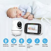 HelloBaby 3.2Inch HB66 Baby Monitor 24h Portable Baby Camera Digital Wireless Video Transmission ,Two Way back system