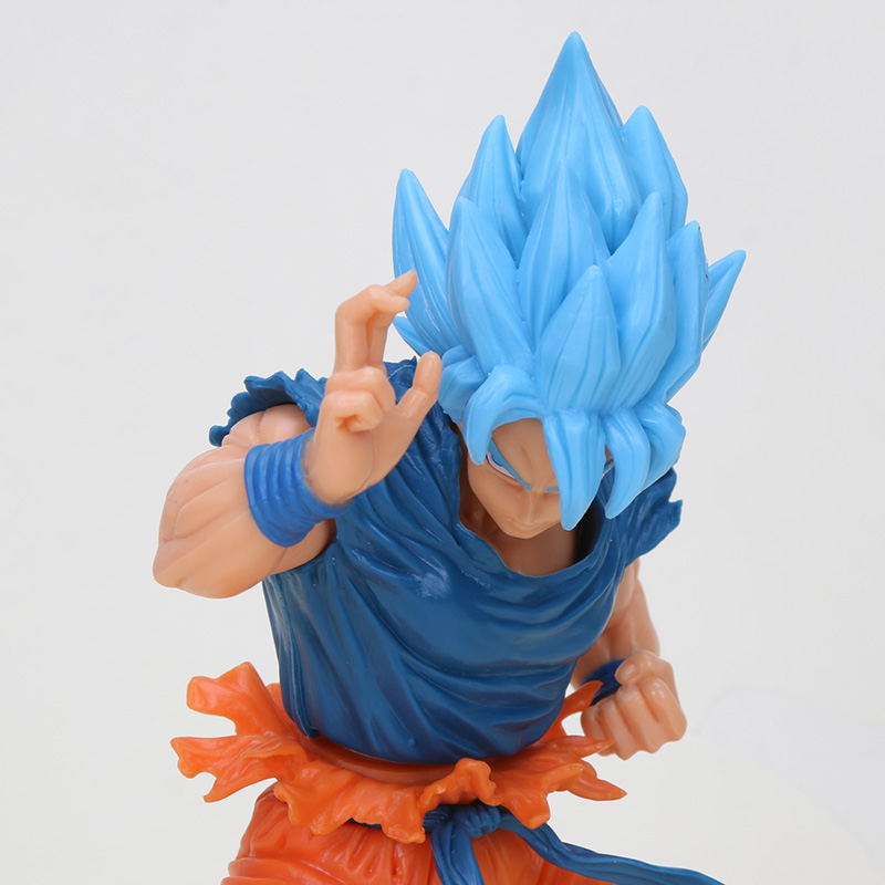 Image 3 - 20cm Dragon ball figure Super Saiyan 4 God SS Blue Hair goku Dragonball Goku Collection Figure Toy-in Action & Toy Figures from Toys & Hobbies