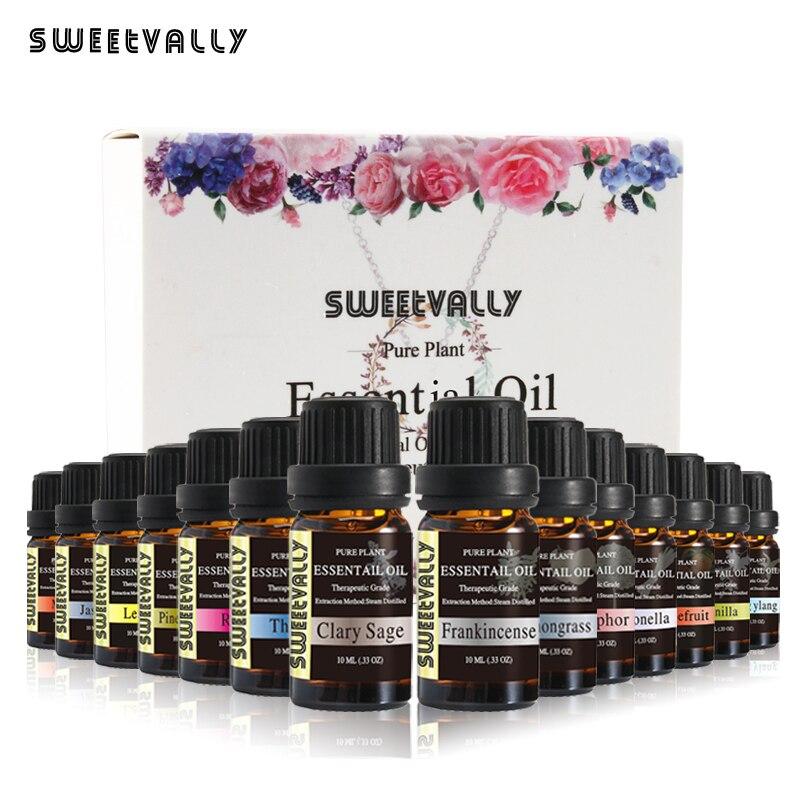 24 pièces/Kit diffuseurs d'aromathérapie végétale huile essentielle 10ml Massage corporel bio Relax parfum Kit de soins de la peau