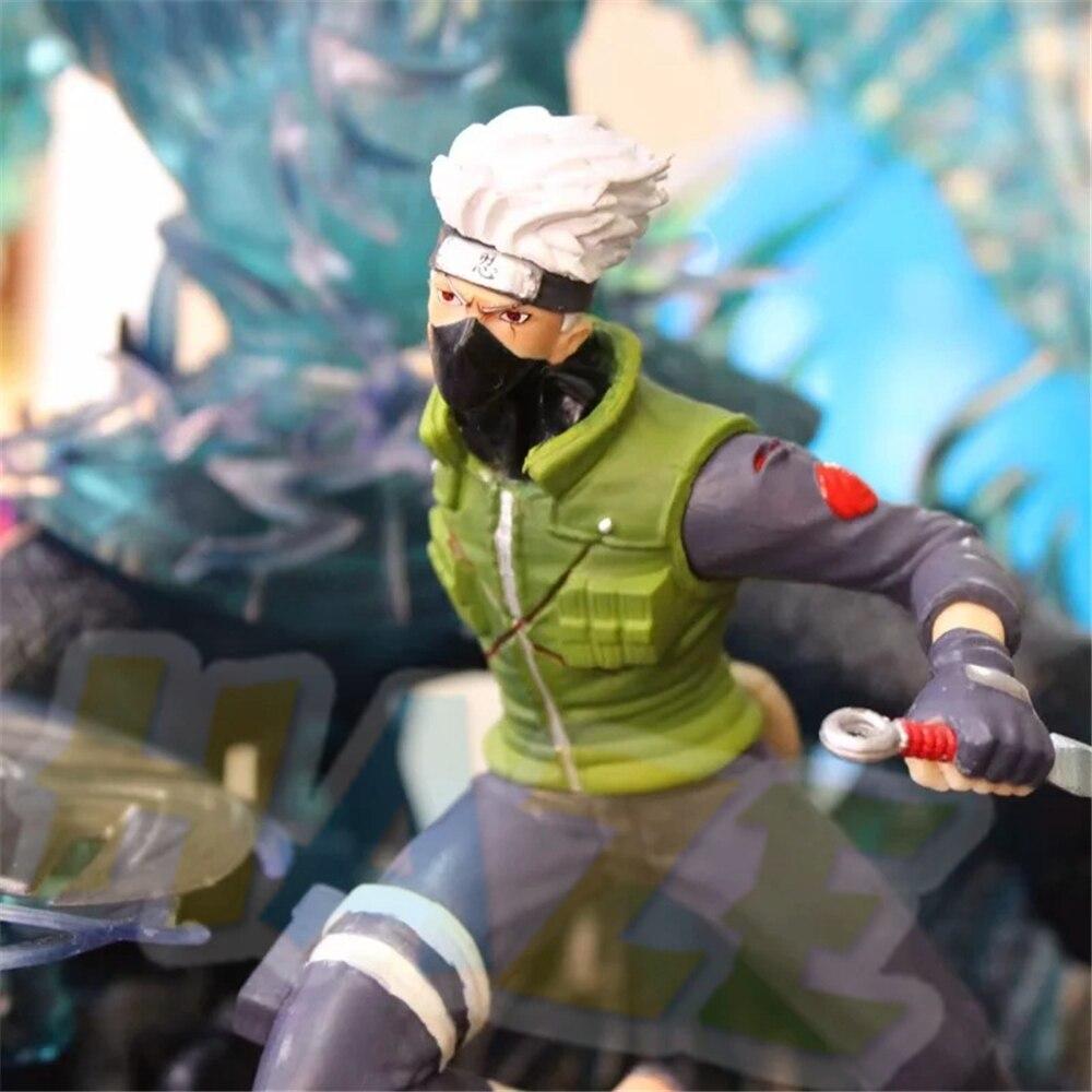 NEUF Naruto Kakashi Sasuke Susanoo Anime Figure Modèle DEL Bust Statue 32 cm