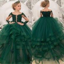 Платье для девочки на день рождения с аппликацией и бисером