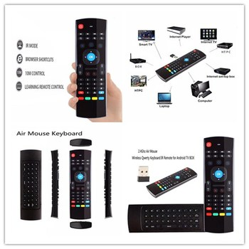 Air 2.4G FMouse MX3 Remote Control Wireless Qwerty Keyboard For Smart TV TV Box T95Z Plus/X96 Mini P
