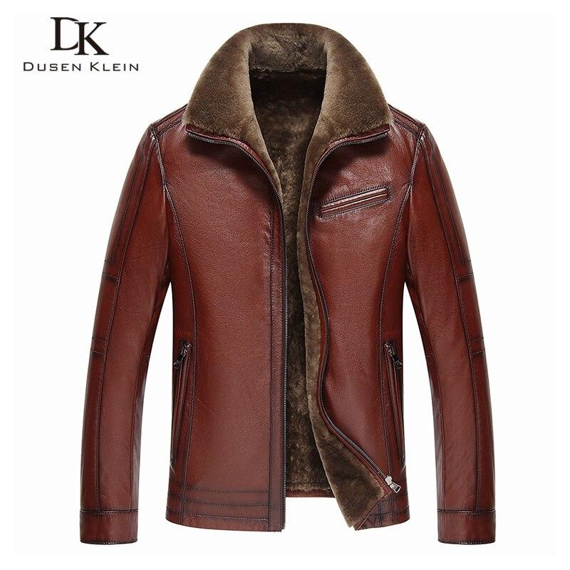 Men Genuine Leather jackets Brand 2019 New Men Wool Liner Winter Warm Coats Luxury Male Cow Men Genuine Leather jackets Brand 2019 New Men Wool Liner Winter Warm Coats Luxury Male Cow leather Outerwear