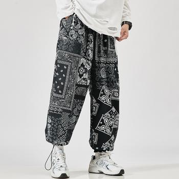 2021 męskie spodnie Harem nowe mody spodnie dresowe dla joggerów koreańska męska luźne spodnie ponadgabarytowe śmieszne Streetwear męskie spodnie na co dzień 5XL tanie i dobre opinie HEWITTISD Cztery pory roku Spodnie typu Harem CN (pochodzenie) POLIESTER Daily Elegancko na luzie Mieszkanie Z KIESZENIAMI