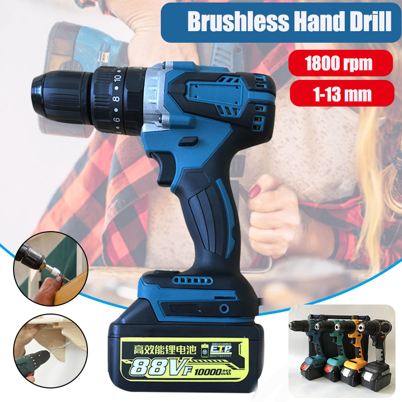 88V 13mm Max Electric Screwdriver Professional 1800rpm Cordless Drill Household Wireless Power Driver DC Lithium-Ion Battery image