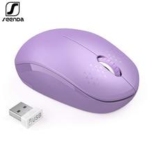 SeenDa Mini Mouse Senza Fili Del Mouse Silenzioso Fare Clic Su 2.4G Mouse Senza Fili Del Mouse Ergonomico Mute Mouse per il Computer Portatile Notebook Computer Mause Ottico USB