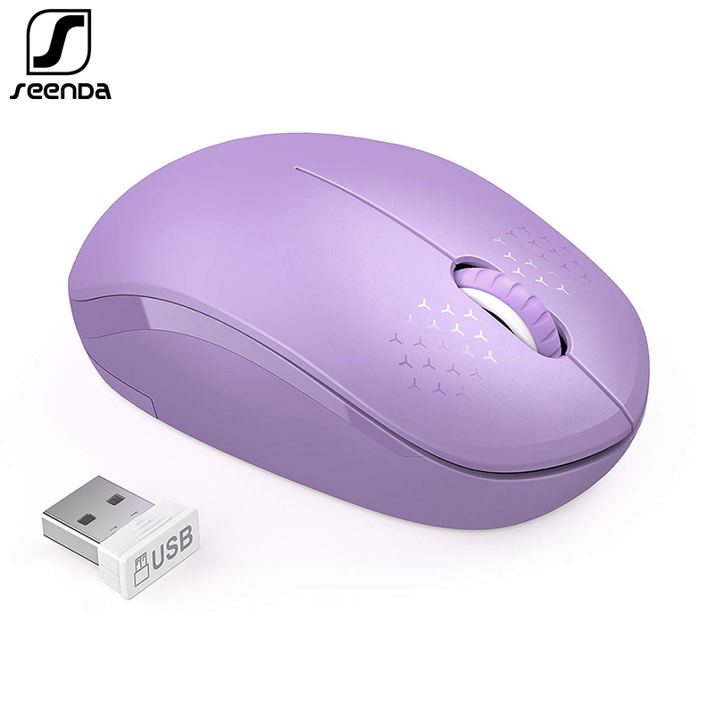 SeenDa Mini Wireless Mouse Silent Click 2.4G Mouse Wireless Ergonomic Mute Mice For Laptop Notebook Computer Optical Mause USB
