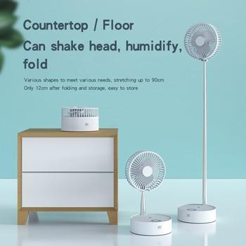 USB Eletric Fan Humidifying Hydration Water Spray Fan Portable Folding Retractable Fan Desk Telescopic Lamp Fan With Night Light lacywear u 1 fan