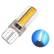 1 шт. T10 супер яркий силикагель COB светодиодный лампы силиконовый корпус Авто Клин парковочные огни поворотные боковые лампы сигнальные огни Автомобильные огни