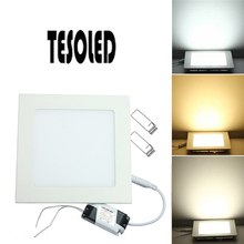Square LED Panel Light Recessed Kitchen Bathroom Ceiling Lamp Side illumination 12W 3-18W for home decoration 8.16