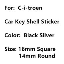 Autocollant en coque métallique, carré ou 14mm, 5 pièces