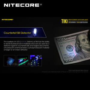 Image 5 - Mini fütüristik NITECORE TIKI/ TIKI LE USB şarj edilebilir ışıklı anahtarlık dahili Li ion pil