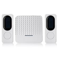 ใหม่ กันน้ำSolar Powered Wireless Doorbell Alert System 300M Range 52 Chimesไฟฟ้าที่มีไฟLed EUปลั๊ก