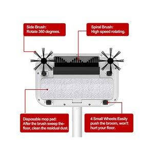 Image 3 - الأرضيات الصلبة 360 الكهربائية مكنسة لاسلكية قابلة للشحن مع فرش الدورية ، مكنسة تنظيف الغبار مرنة مع 30 قطعة الجافة