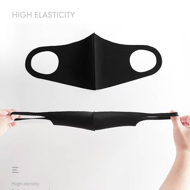 3PCS Reusable Cotton Mask for Adult Kids Durable Breathable Recycle Masks Washable Anti Haze Dust Unisex Motorcycle Face Mask 2