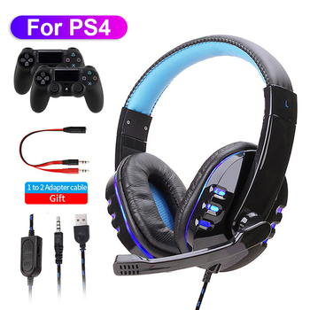 LED Light Gaming Over ear Headset Gamer casque Deep Bass Game Headphones Earphone for Computer PC PS4 XBox audifonos gamer fones