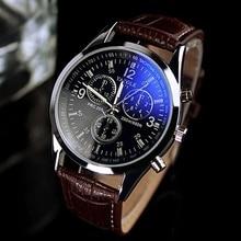 Korean Style Watch Male Student s Casual Business Fashion Men s Watch Trendy Unique Leather Belt Blue Light Men s Quartz Watch