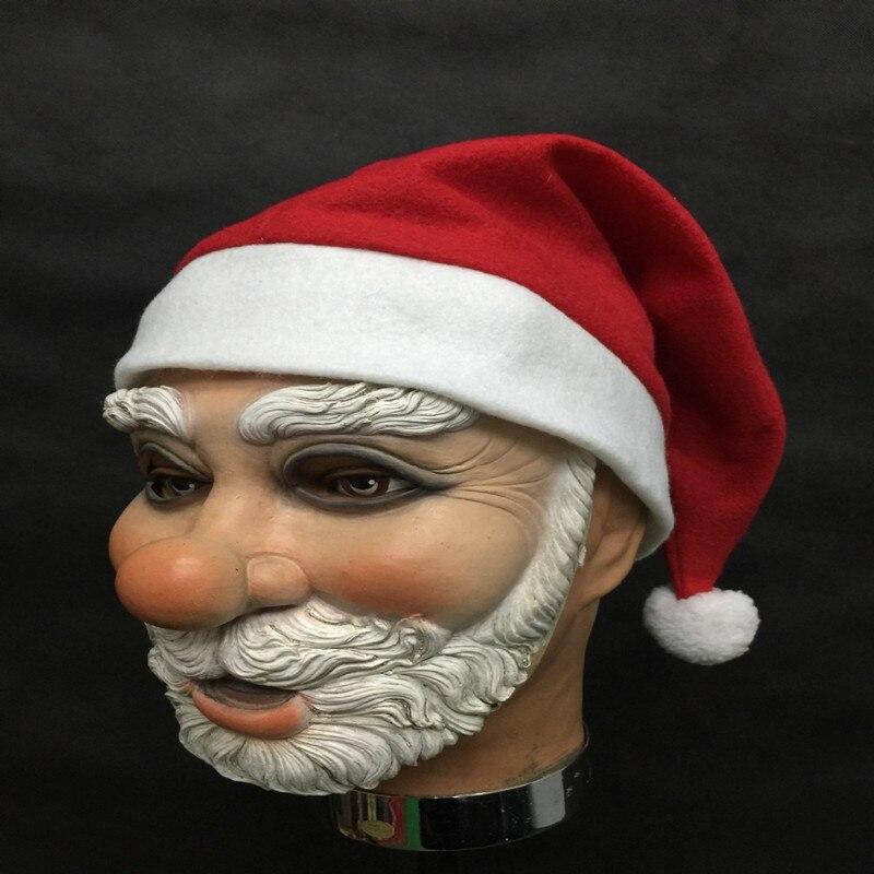 Merry-Christmas-Santa-Claus-Latex-Mask-Outdoor-Ornamen-Cute-Santa-Claus-Costume-Masquerade-Wig-Beard-Dress (1)