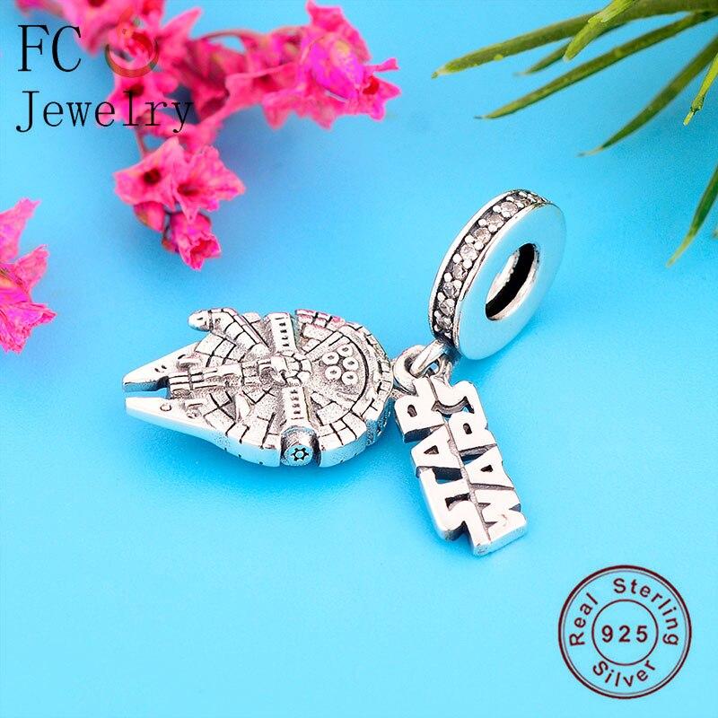FC Jewelry Fit Original Pandora Charm Bracelet 925 Silver Earth Star Wars Force Waken Pendant Bead Making Women Berloque 2020