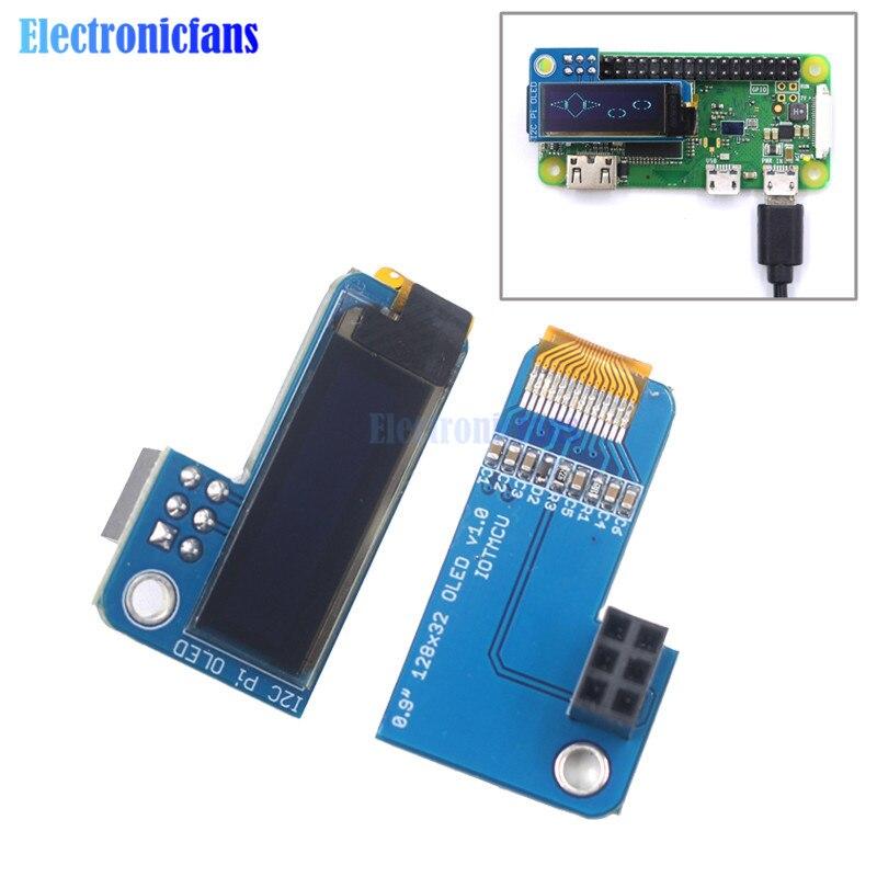 Proveedor de luz de 0,91 pulgadas de pantalla OLED 128x32 I2C CII SSD1306 azul Módulo de pantalla OLED para RPI Raspberry Pi B + y Pi 2 Pi 3 y Pi Zero