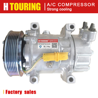 Sanden sd6v12 compressor para Citroen Berlingo Xsara C2 C3 Pluriel para Peugeot 206 307 9646273880 9639078180 9646273380 6453LS|Instalação de ar-condicionado| |  -