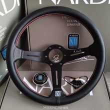 Volante de cuero volante de carreras volante deportivo de rueda de Auto Dirección de PVC de 14 pulgadas 350MM