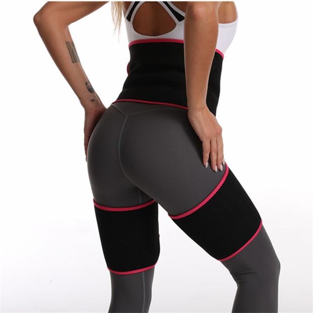 2020 Women High Waist Belts Sweat Thigh Trimmers Leg Shaper Neoprene Slimming Belt Control Panties Fat Burning Wraps Thermo Belt 4