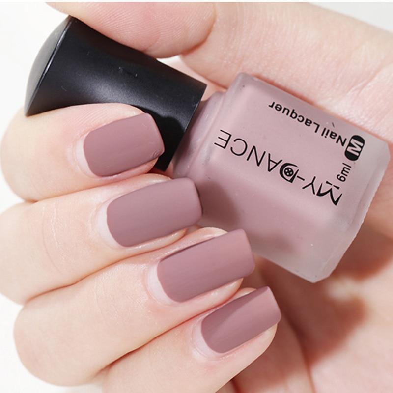 Newly Women Matte Nail Polish DIY Art Long Lasting Satin Manicure Non-toxic Fashion Makeup CLA88