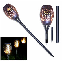 Lamp Torches Flame-Lights Flickering-Flame Garden Balcony Solar Outdoor LED 12 for Courtyard
