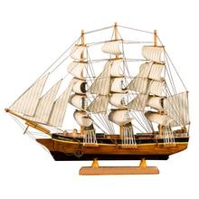 LUCKK 60CM White Sailing Boat 62*13*50cm vintage home decor Sailing Model Ship Gift For Adult Wood Crafts Nautical Retro Model la salamandre 1752 model ship wood