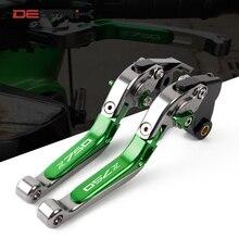 DESRIK wysokiej jakości dla KAWASAKI Z750 Z 750 2007 2012 akcesoria motocyklowe składane wysuwane dźwignie sprzęgła LOGO Z750