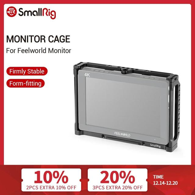 SmallRig 7 Inch Monitor Cage for Feelworld T7 703 703S and F7S Monitor Protective Cage With Nato Rail Threading Holes   2233