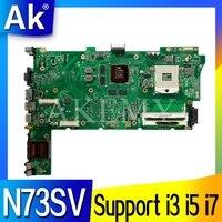 GT540M kart Desteği ile ASUS N73S N73SV N73SM Laptop anakart 3 RAM yuvası için i3 i5 i7 İşlemci
