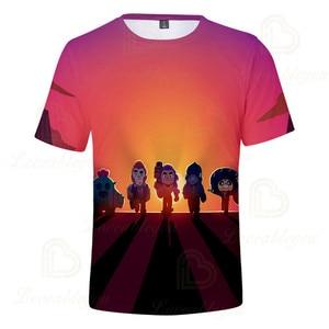 Image 2 - 2 To 13 Years Kids T shirt Shooting Game Kids Boys Girls Short Sleeve tshirt T Shirt Streetwear Cartoon Children T shirt Tops