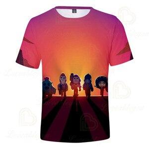 Image 2 - 2 ila 13 yıl çocuklar T shirt çekim oyunu çocuklar erkek kız kısa kollu tshirt T Shirt Streetwear karikatür çocuk t shirt