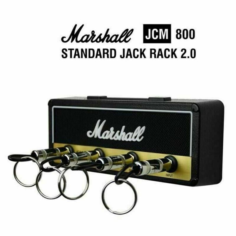 Vintage Guitar Amplifier  Key Base Key Hanger Key Storage 4 Accessories Fashion Key Chain Pendant