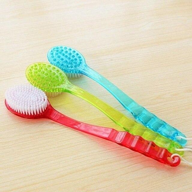 Щетка для ванны и душа с длинной ручкой, аксессуары для ванной комнаты, массаж, втирание, уход за кожей, очищение душа, отшелушивание|Банные щетки, губки и скребки|   | АлиЭкспресс