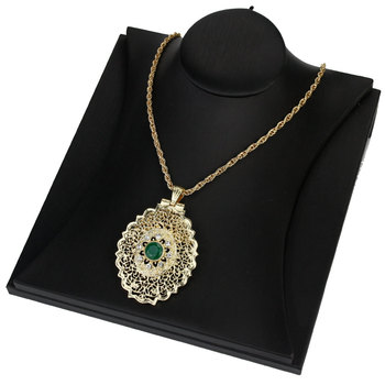 Sunspicems 2020 Gold Color Moroccan Pendant Necklace for Women Metal Arabesque Wedding Jewelry Caftan Chain Dubai Bijoux 1