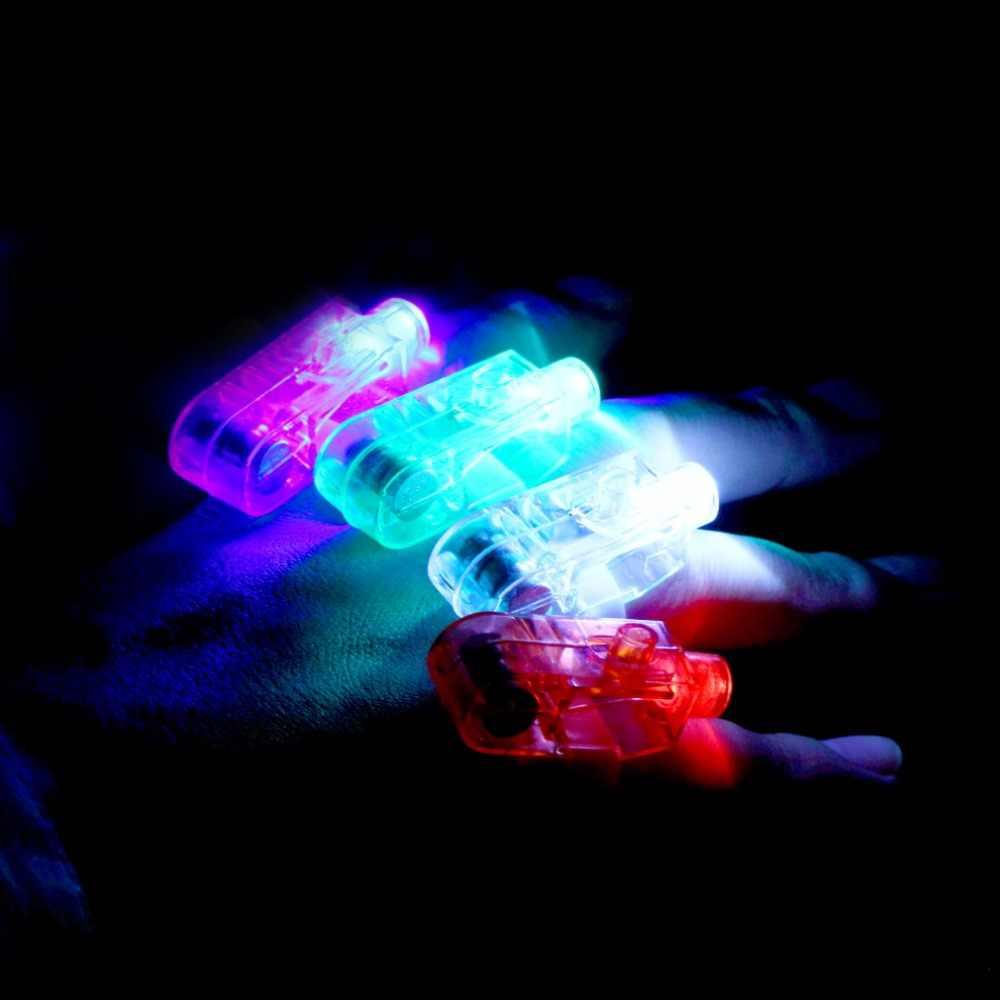 حار 4 قطعة LED الطرف إصبع ضوء الليزر إصبع الحزم حلقة الشعلة لحفل الزفاف مزيج اللون إضاءة ديكورية حار المبيعات