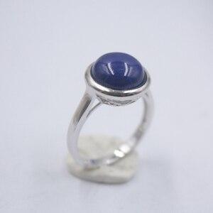 Цельное 925 пробы Серебряное кольцо, самое широкое кольцо из лазурита 12,5 мм для женщин