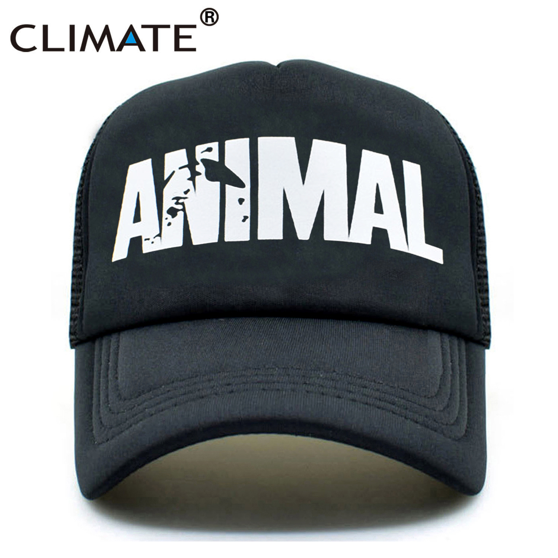 CLIMATE GYM Cap Animal Trucker Caps Men Animal Cap Fitness Fans Print Mesh Hat Body Building Muscle Sports Caps Hat For Men