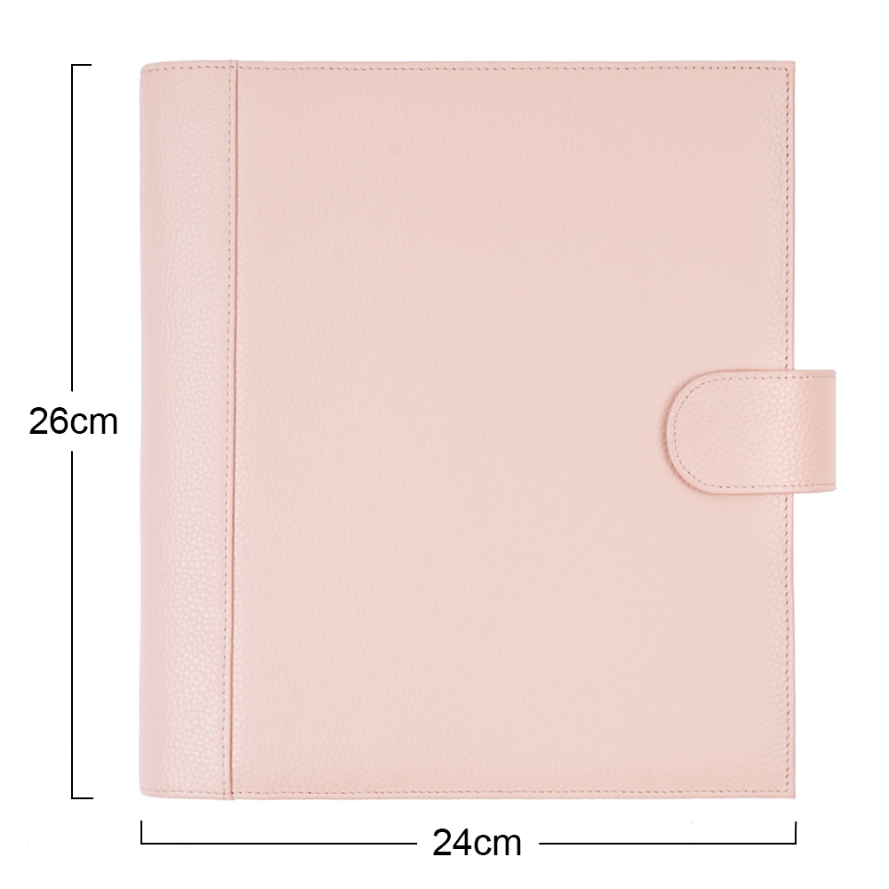 Moterm Genuine Leather Discbound Planner Cover For Happy planner Classic size Notebook Expansion disc bound Organizer Journal 3