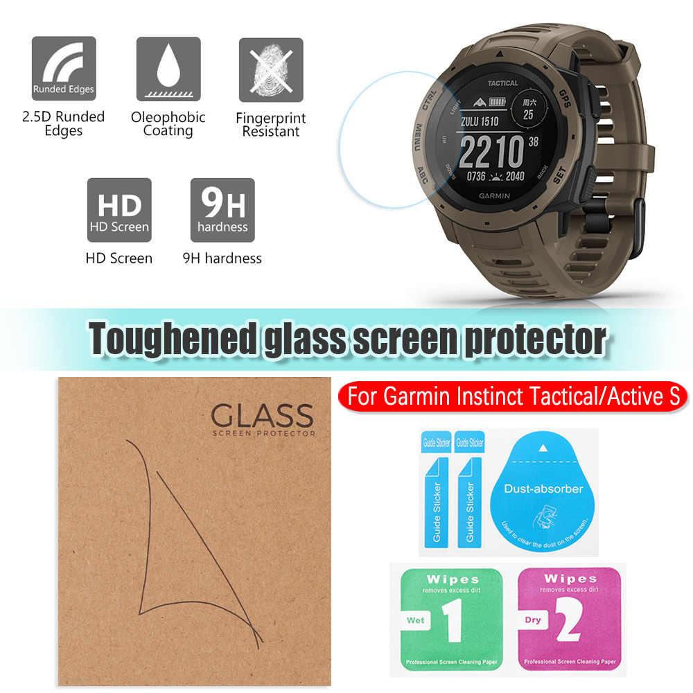 Trasparente Pellicola Protettiva HD Temperato Protezione Dello Schermo di Vetro Dello Schermo Per Garmin Istinto Tattico Attivo S Accessori Per Orologi