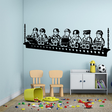 Cartoon Game Vinyl Wall Sticker Poster Decor For Baby's Room Kids Rooms Decoration Decal Art Stickers Murals pirate ship and treasure map decal set wall decal custom vinyl art stickers for classrooms kids rooms baby nurseries 3004