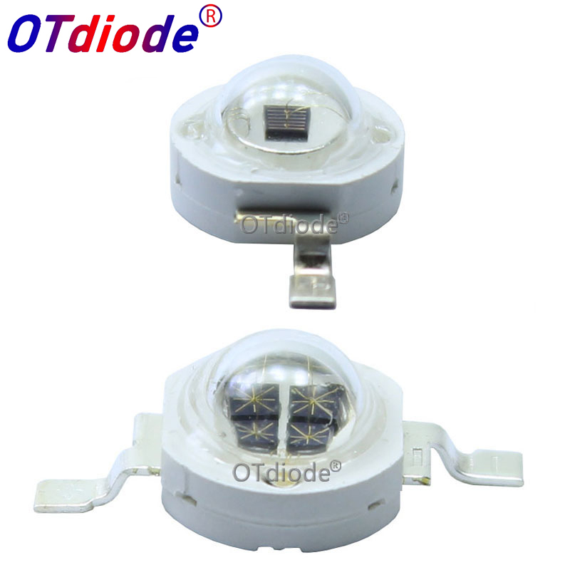 High Power LED Chip 850nm 940nm IR Infrared 3W 5W Emitter Light Bead COB 850 940 Nm Night Vision CCTV Camera